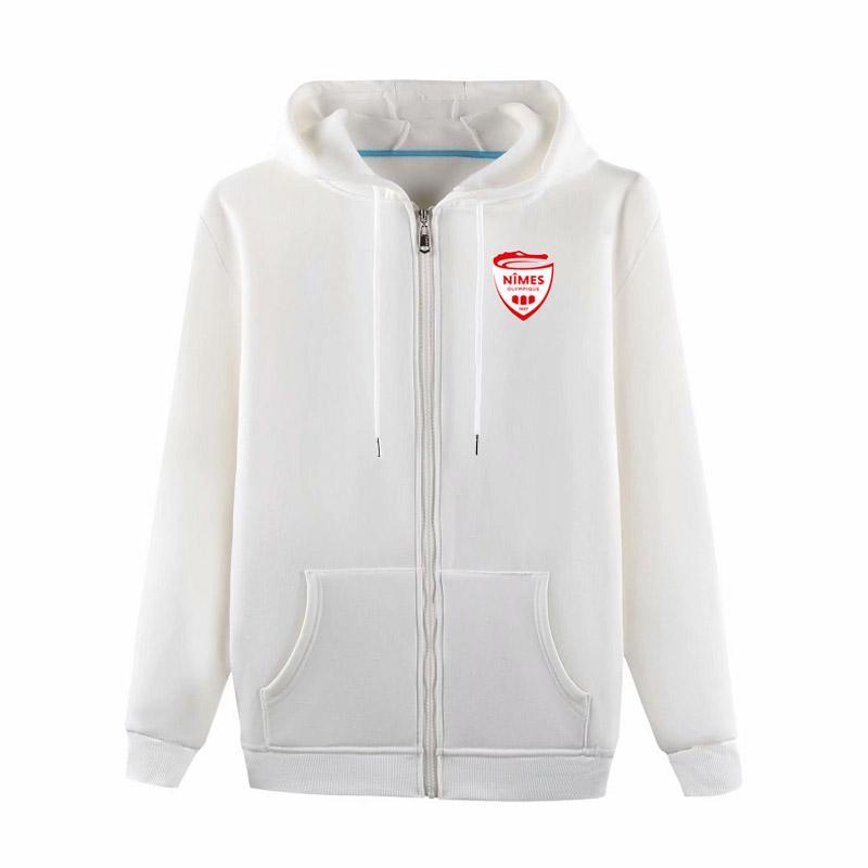 Nimes Soccer ceketler Futbol Formalar Spor eğitim ceket Moda Leisure kapüşonlu ceketler Uzun kollu Futbol ceketler Fanlar Tops