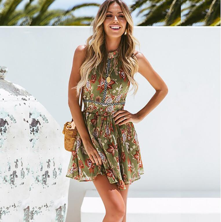 Summer Cute Women Dresses Hot Sale Sexy Skirts Floral Pattern Casual Lady Party Dresses Formal Short Skirts Sexy Clubwear