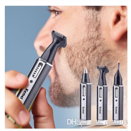 4 en las patillas 1 hombres recargable eléctrico Oído, nariz pelo Trimmer indolora Mujeres recorte cejas Barba cortadora de cabello de corte máquina de afeitar