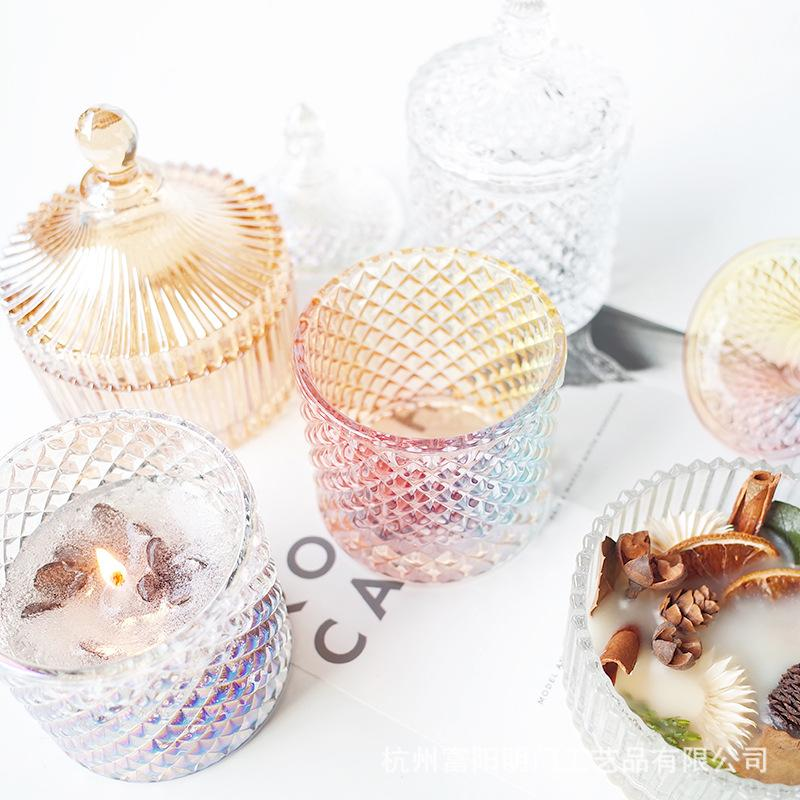 Glass wax cup DIY scented candle making creative wax cup multicolor glass candle melting two pieces