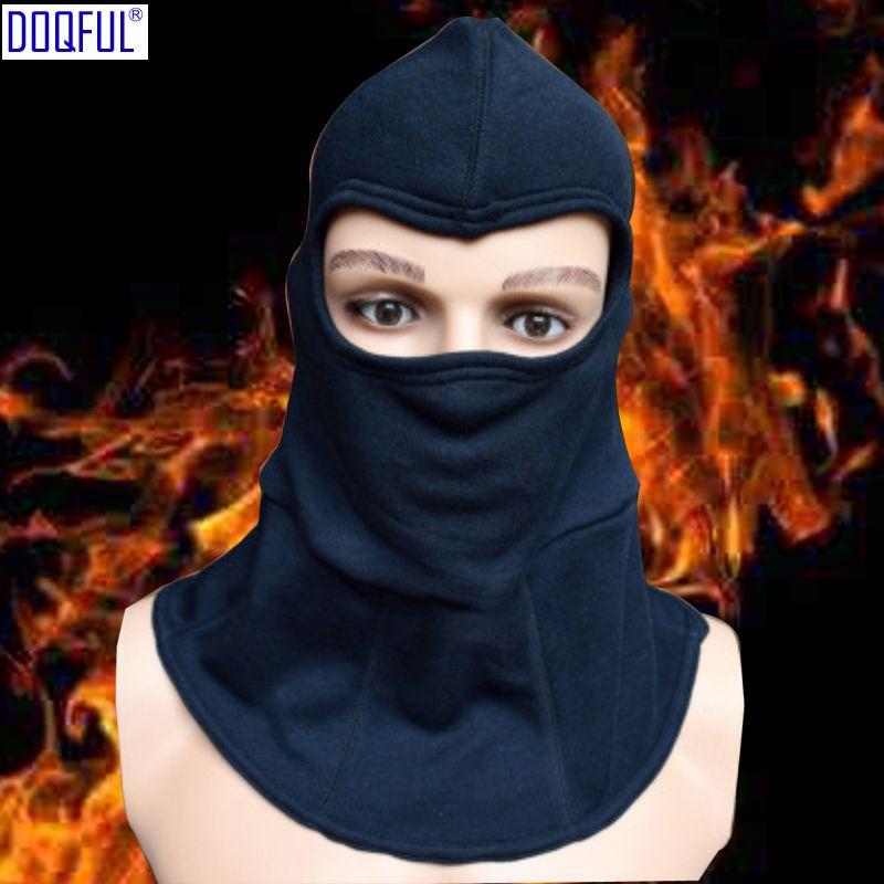 Isolation au feu Casques de sécurité Casque anti-feu Produit tricoté Couvre-chef Tête haute résistance Protection du visage
