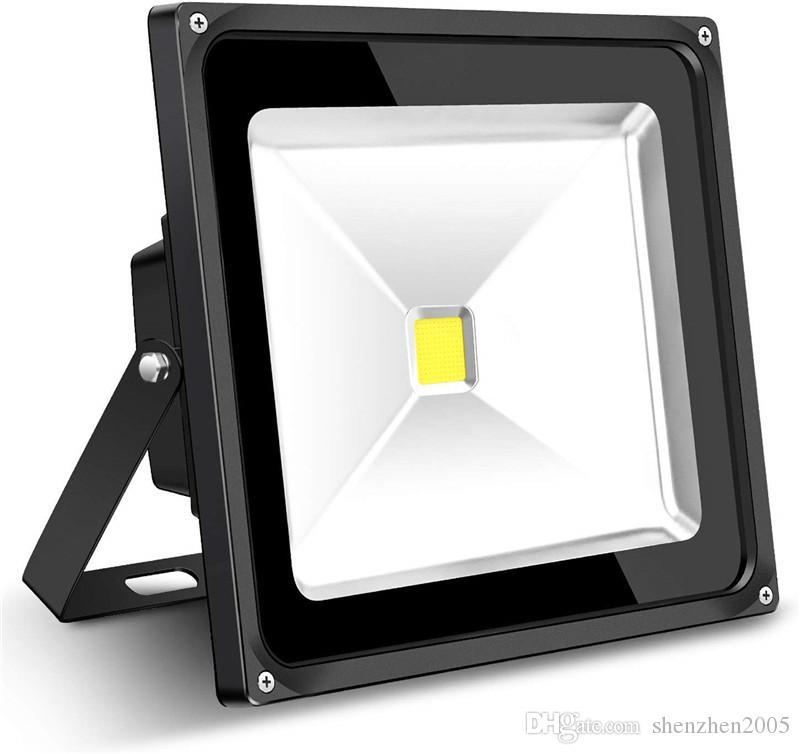 50W 야외 홍수 빛 6000lm 플러그와 함께 슈퍼 밝은 보안 조명 플러그 5000K 일광 화이트 IP65 야드 가든 놀이터에 대 한 LED 투광 조명