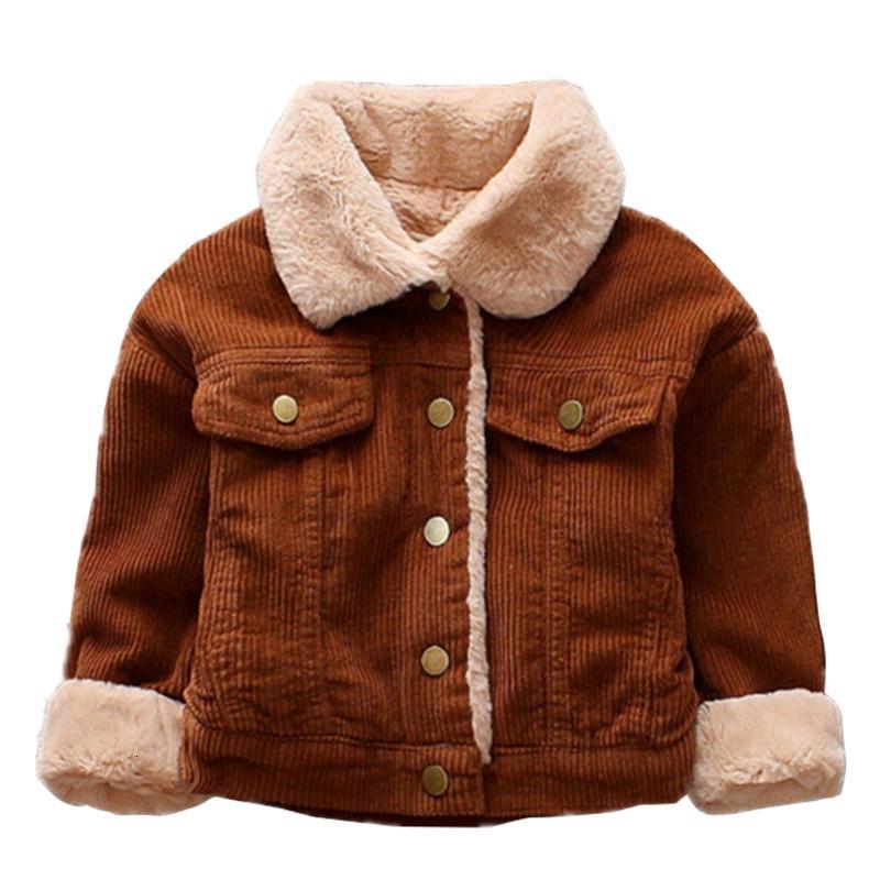 2019 New Winter Baby Girls Jacket Boys Coat Children Fur collar Warm Jacket 0-4Y Kids Toddler Xmas Snowsuit Outerwear Clothing T191026