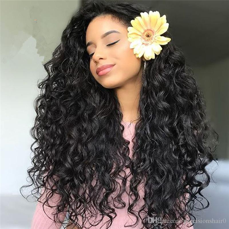 8A Bleached Knots Best Lace Front Human Hair Wigs Deep Wave Lace Front Wig Silk Base In Stock