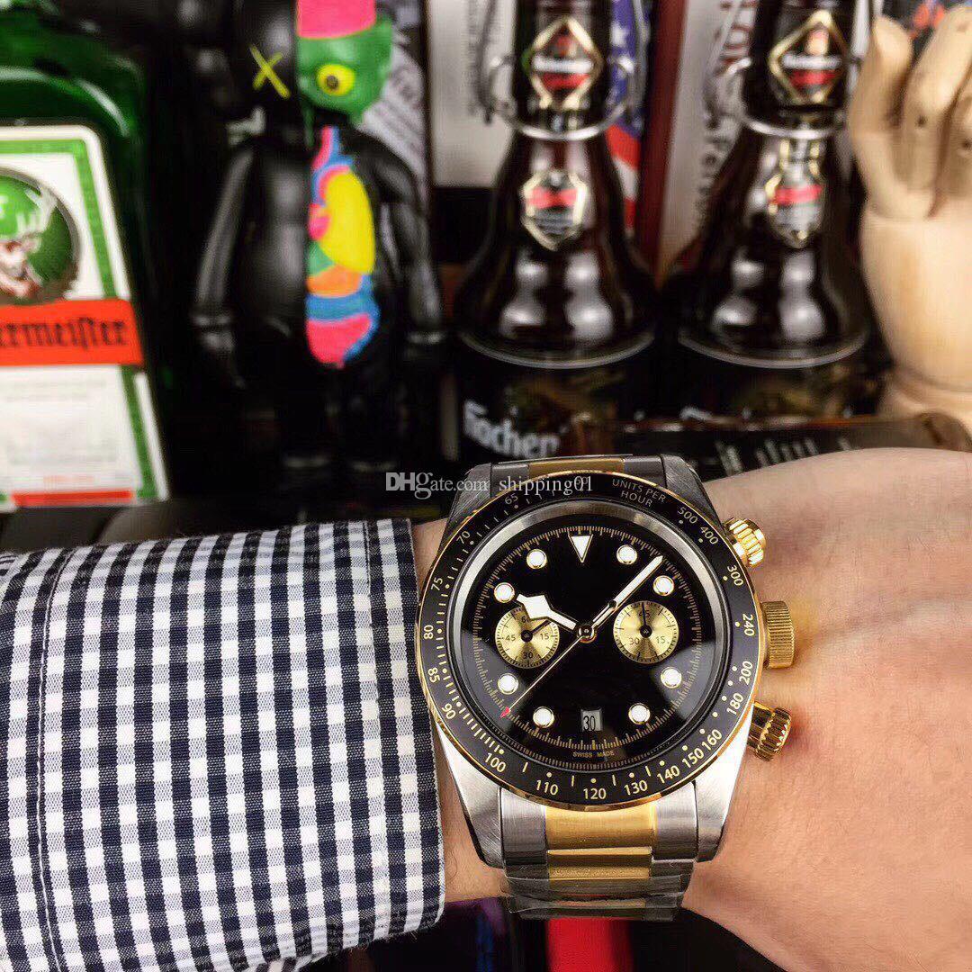 뜨거운 판매 남자의 시계 42mm 세라믹 링 자동 기계 스테인레스 스틸 시계 디자이너 남성 명품 시계 사업