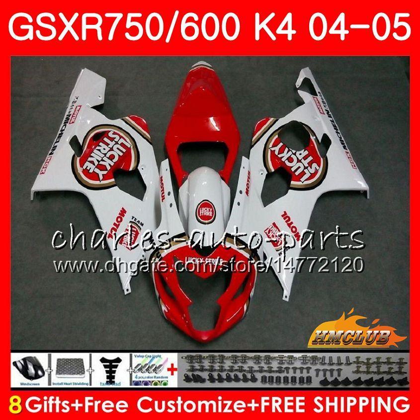 BODY DO SUZUKI GSXR 750 GSX R600 R750 GSXR600 Lucky Strike Hot 2004 2005 7HC.54 GSXR 600 GSXR-750 04 05 GSX-R600 K4 GSXR750 04 05 Owalnia