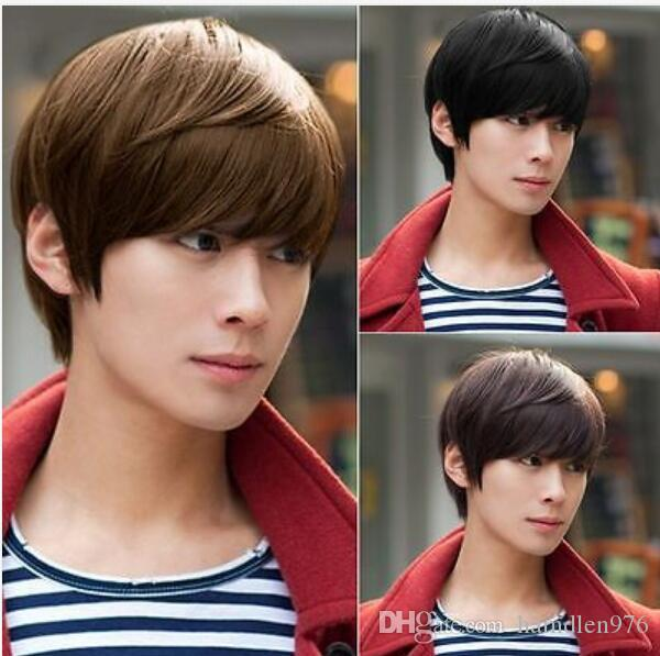 Free shipping>>>New Hot Fashion Super Men's Handsome Short Straight Cosplay Party Hair Wig