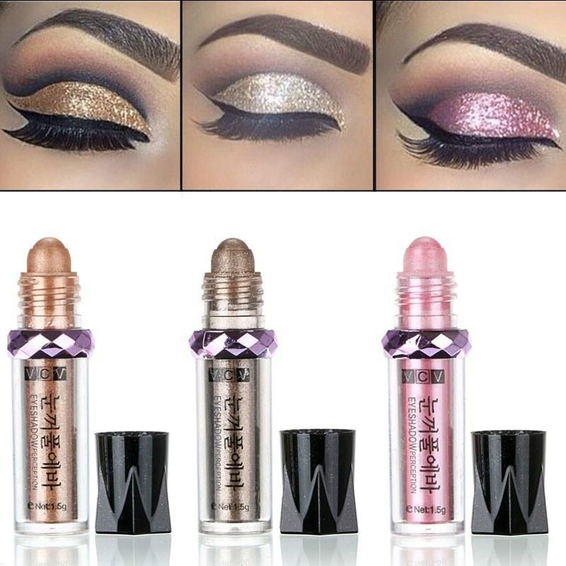 Pearl Eyeshadow Powder Pearlescent Eye Shadow High Gloss Powder Makeup Eyeball Glitter Gold Eye Shadow Pen Women's Girls Minerals 1pcs