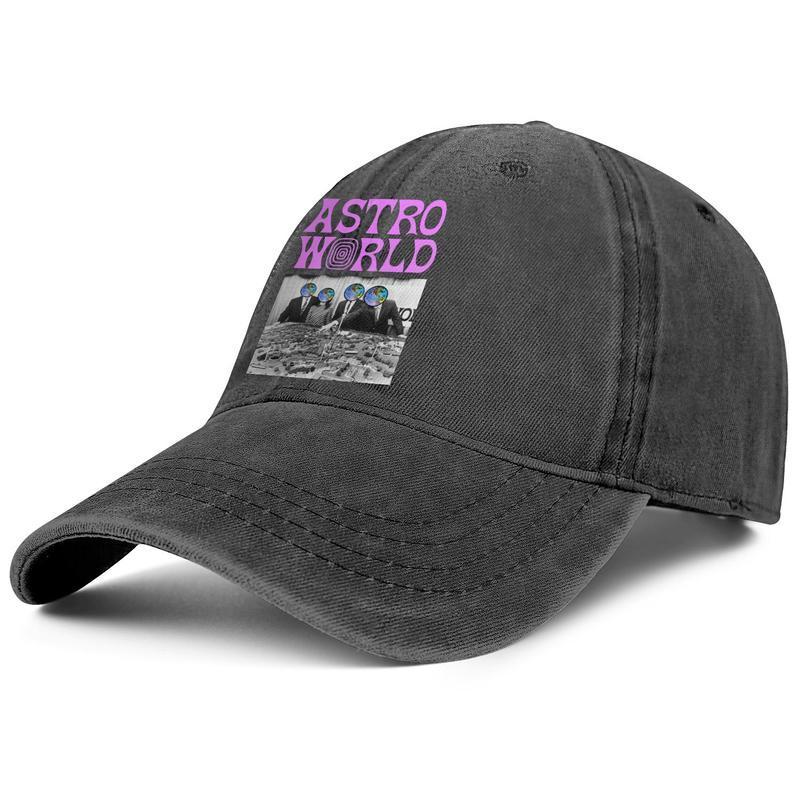 Travis Scott Astroworld Sorriso per gli uomini e le donne Trucker Cap denim disegno misura i cappelli classicsports golf uniquepersonalized spazio Skull