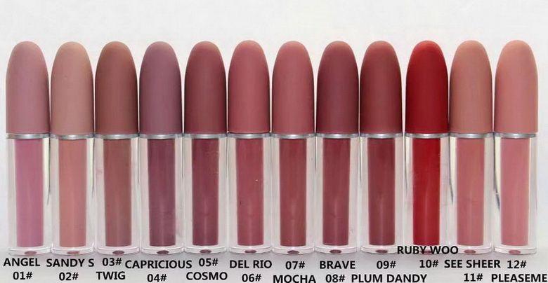 메이크업 립글로스 액체 립스틱 자연 모이스처 라이저 12 영어 coloris와 다른 색상 메이크업 립글로스