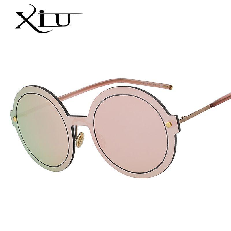 Venta al por mayor 2018 New Round Shades Sunglasses Hombres Mujeres Diseñador de la marca Gafas de sol Lente de espejo Lentes de calidad de lujo UV400