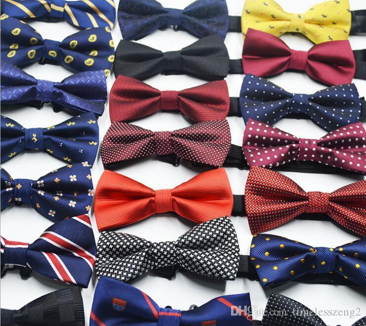 Men's Business Suit Bow Ties British Korean Suit Bowtie 72 Colors Elegant Adjustable Jacquard Weave Polyester Bow Ties