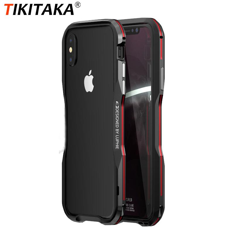 Luxury Aluminium Frame 360 Protective Armor Phone Case for iPhone X XS Max XR Cover Metal Bumper for iphone 7 8 Plus Case Coque
