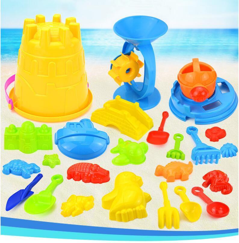 плесень Baby Дети Песчаный пляж игрушки Дноуглубительные инструмент Пляж ведро Замок животных Новая мода лето Детские игрушки игры песка вода 25шт / комплект TLZYQ1144