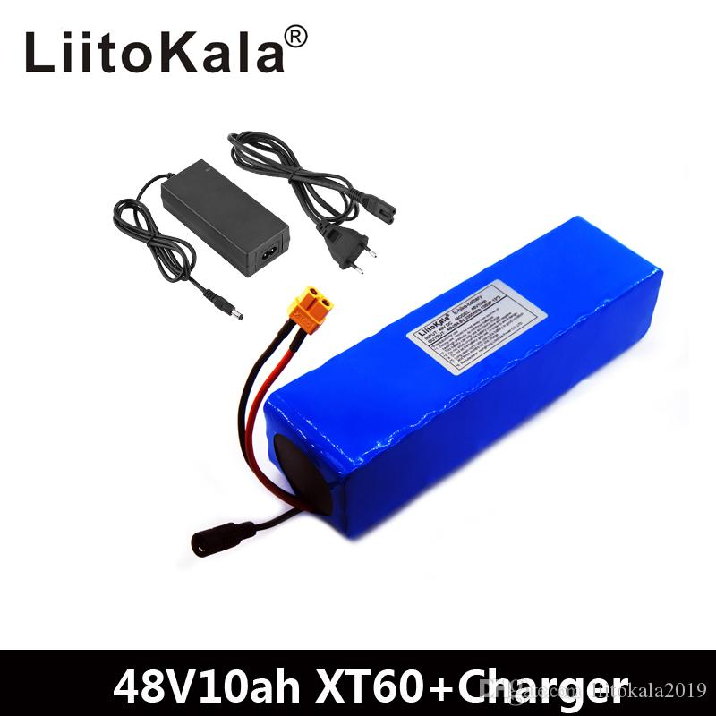 LiitoKala E-Bike-Akku 48V 10Ah Li-Ionen-Akku Fahrrad Umbausatz Bafang 1000w und Ladegerät XT60 Stecker