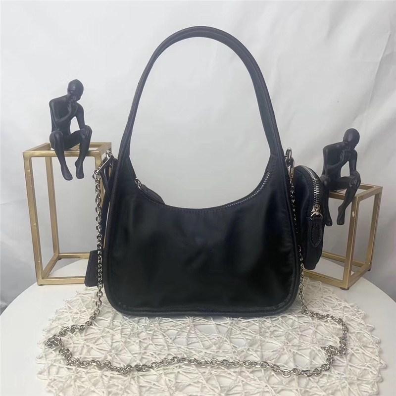 Сеть продаж сумка роскошный дизайнерская сумка горячий нейлон металл три в одном с женскими сумками крест-ремешок GJTDB