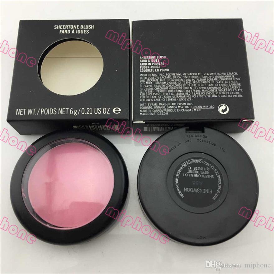 최고 품질의 파우더 쉬머 블러쉬 24 색상 사용 가능 SHEERTONE BLUSH MARGIN PINCHME PINK SWOON 6g 페이스 브러쉬 1pcs ePacket 배송비