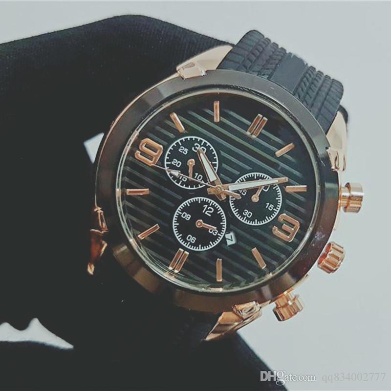 44mm Montre de luxe Hombres del reloj de movimiento automático diseñador DayDate los relojes de moda para hombre reloj de pulsera de reloj de etiqueta negro Reloj de lujo