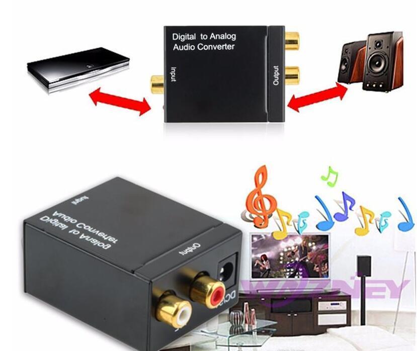 جودة عالية الرقمية adaptador البصرية المحورية rca toslink إشارة إلى التناظرية محول الصوت محول كابل dhl شحن مجاني
