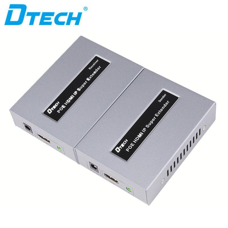 enchufe de control remoto IR envío libre y reproducir vídeo receptor emisor extensor lan cable de HD 1080P HDMI 120m IP POE