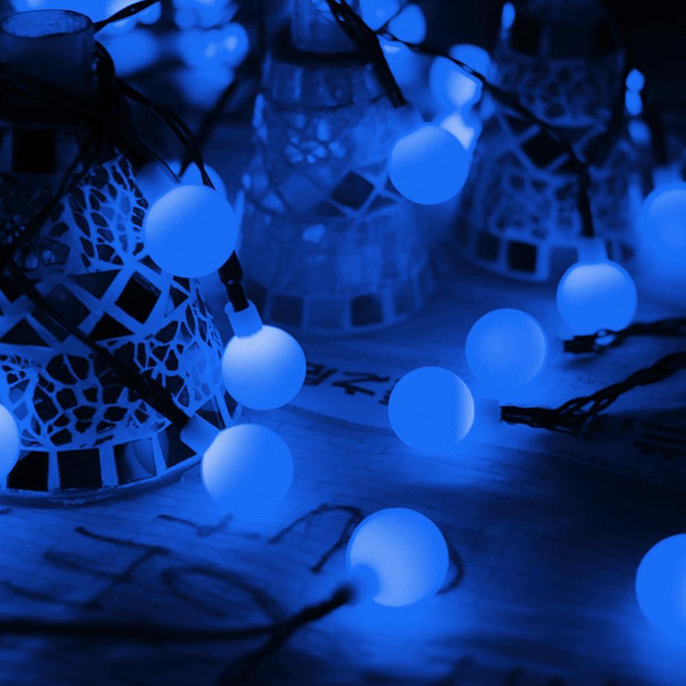 atacado 20/50/100 Partido fábrica LED Bola Solar Lâmpada impermeável ao ar livre LED corda luzes de fadas Solar Guirlandas Jardim de Natal