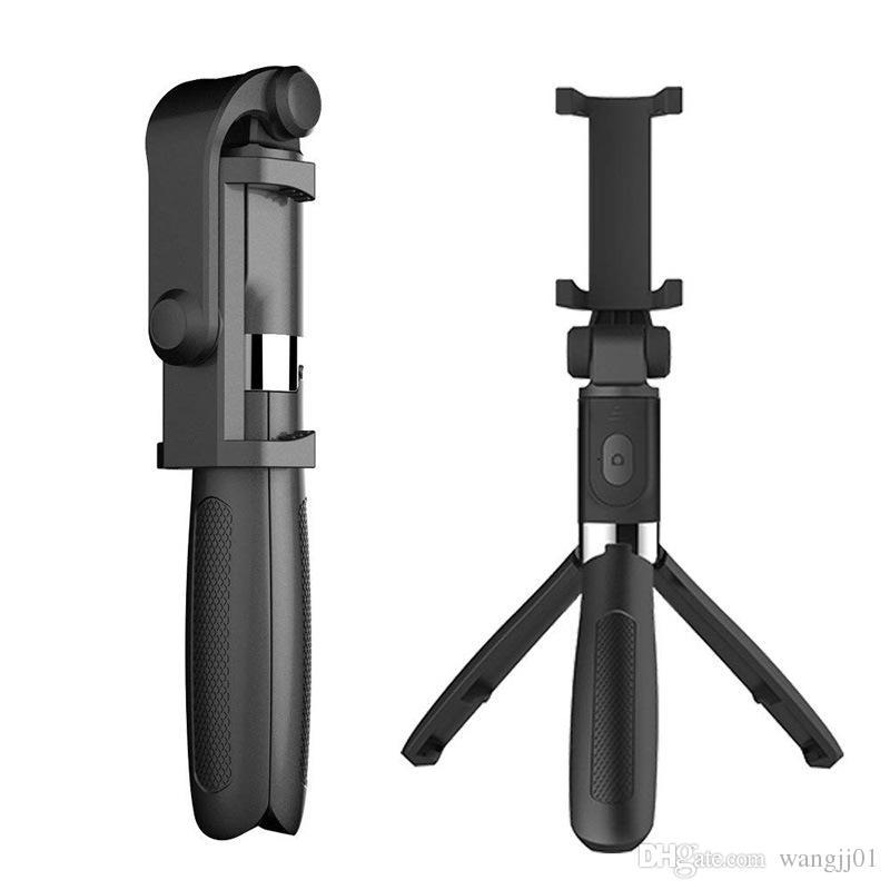 3 in 1 drahtloser Bluetooth Selfie Stick Mini Stativ Ausziehbare Einbeinstativ allgemeinhin für iPhone 11Pro max XR X 7 Plus-Samsung huawei