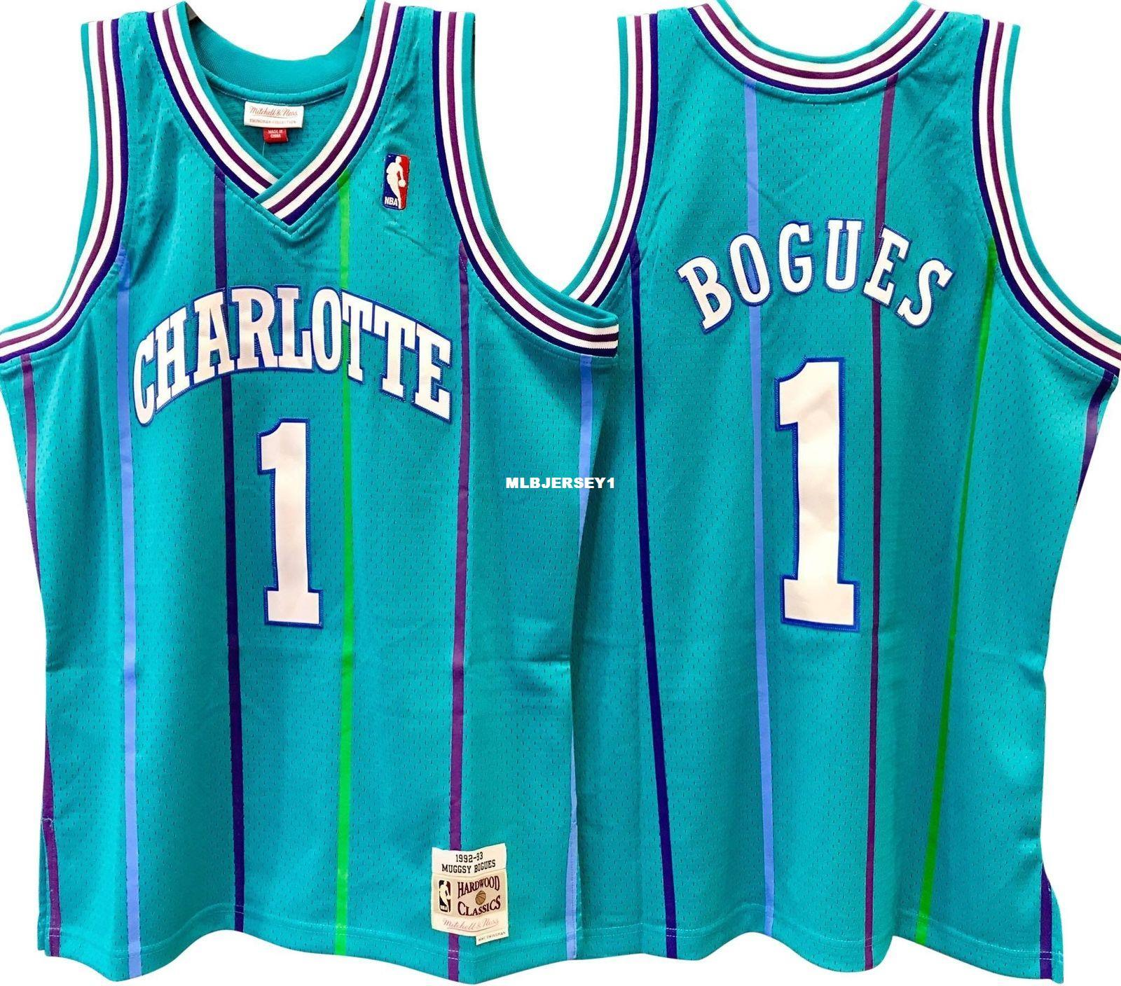 size 40 462a4 b1a03 2019 MUGGSY BOGUES #1 Green Sewn HORSewn High Quality Retro Vintage Top  JERSEY Mens Vest Size XS 6XL Stitched Basketball Jerseys Ncaa From  Mlbjersey1, ...