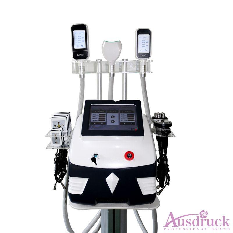 EU 세금 무료 2020 최신 시원한 쉐이핑 시스템 360도 핸들 Cryo Lipolysis Cavitation RF LLLT Lipo 레이저 아름다움 셀룰 라이트 제거 기계
