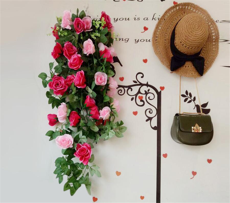simulation simulation rotin fleur artificielle fleur rotin mur décoration suspendus rose décoration maison mur fleurs suspendus HH012