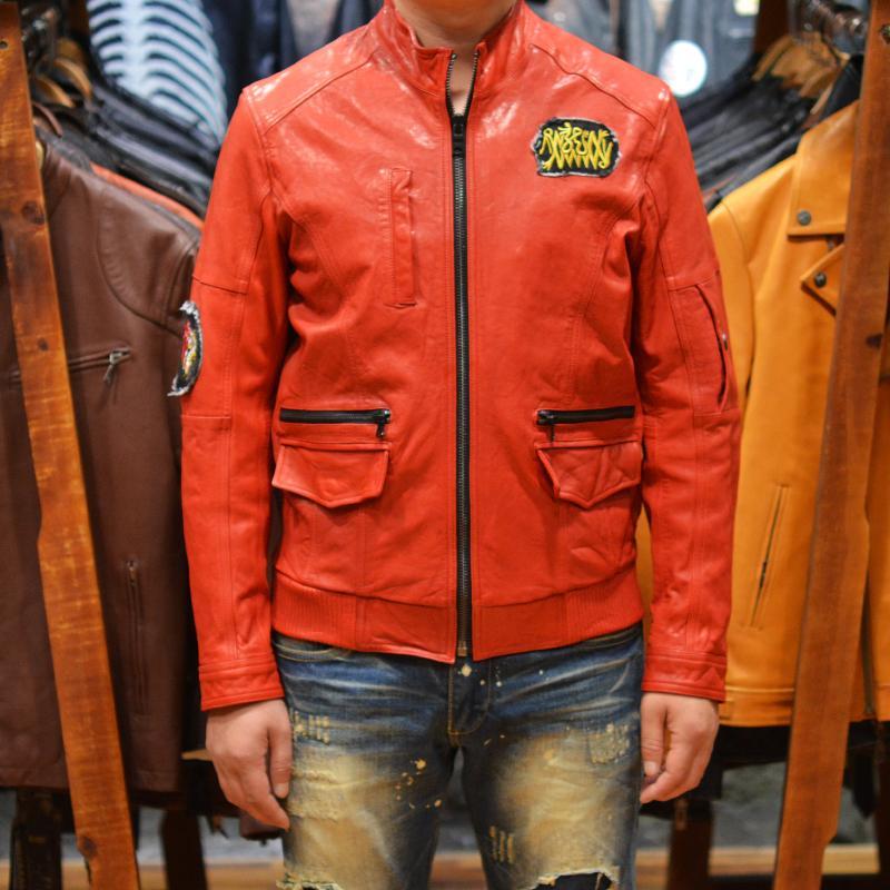 ajuste delgado de los hombres de la chaqueta de cuero de la motocicleta de cabra verdadera chaqueta de motociclista de los hombres de la piel con manchas rojas negro abrigo de cuero ocasionales para los hombres 4XL