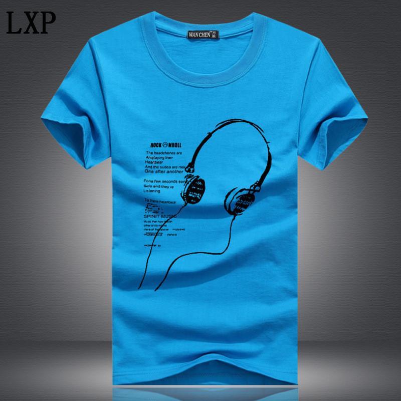Adam 5XL Tee Gömlek Erkekler Büyük Beden Giyim yaz Erkekler Tişört Moda Baskılı Karikatür Kısa Kollu Müzik Casual Pamuk C-9