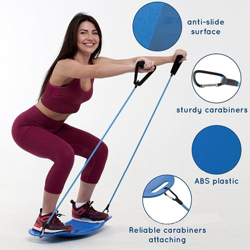 Egzersiz Denge Tahtası Yoga Spor Plank Egzersiz Basitçe Fit Kurulu ABS Malzeme Yoga twist Kurulu için Vücut Spor Eğilimler VT1396