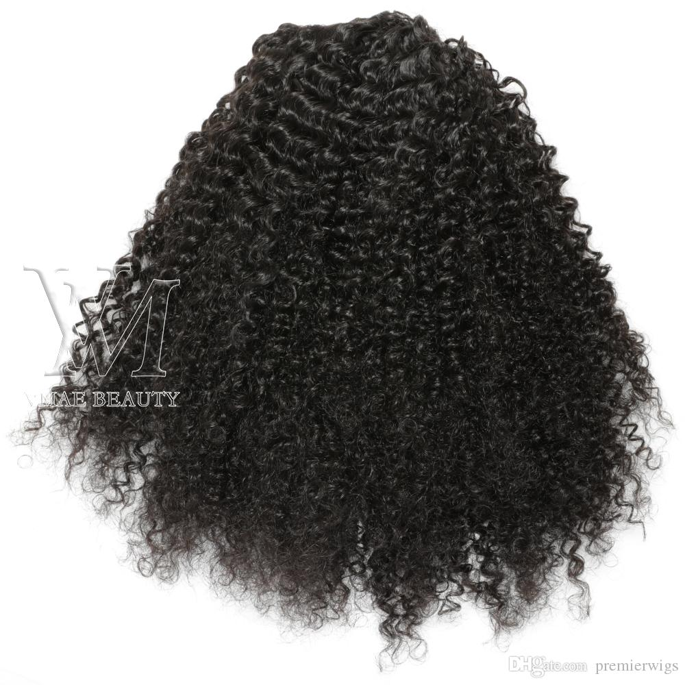 Human afro kinky curly Ponytails Hair 100g 120g 140g 3C Natural Hair horsetail tight hole Clip In Drawstring Ponytails Hair Extensions