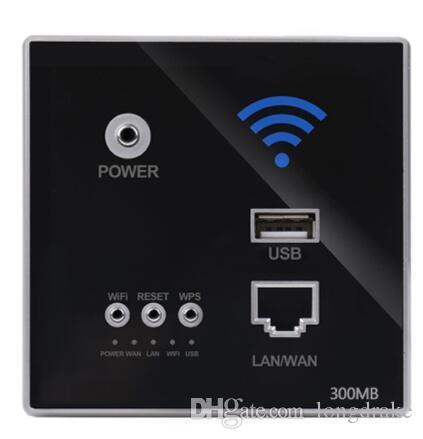 220V 전원 AP 릴레이 스마트 무선 와이파이 중계기 연장 벽 내장형 2.4 기가 헤르츠 고출력 라우터 패널 USB 소켓