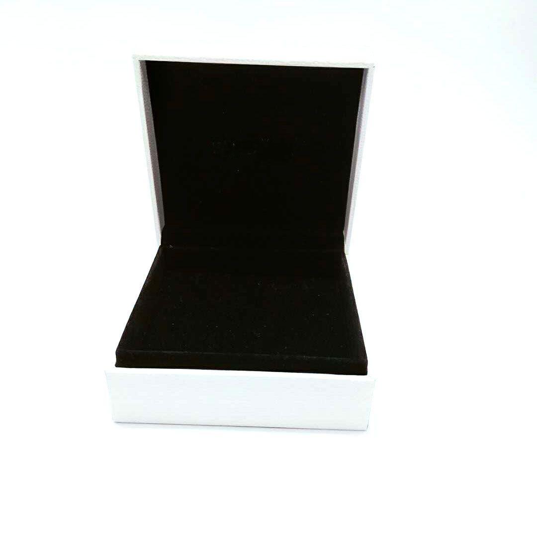 Autentica Packaging scatole di carta Bianco Nero Cuscino All'interno di Charms Pandora Jewelry Style Perle di Murano