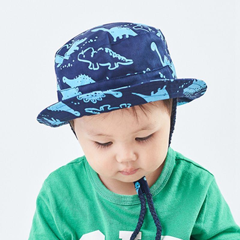 0M-4Y Kids Baby Bucket Hats Toddler Kids Wide Brim UV Protection Sun Cap Light Blue