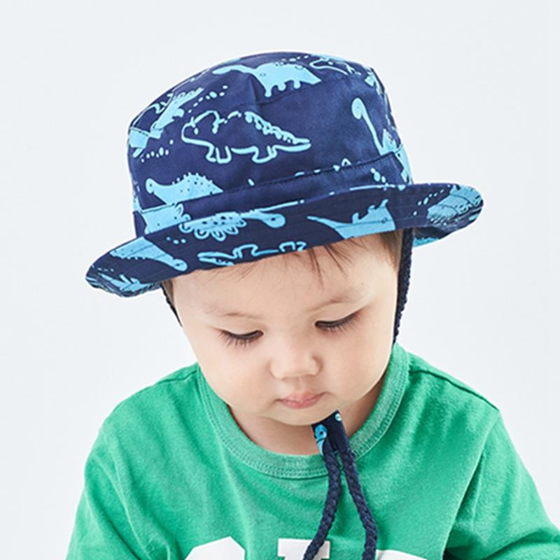 Sun Protection Hat for Kids Toddler Boys Girls Wide Brim Summer Play Hat Cotton Baby Bucket Hat with Chin Strap