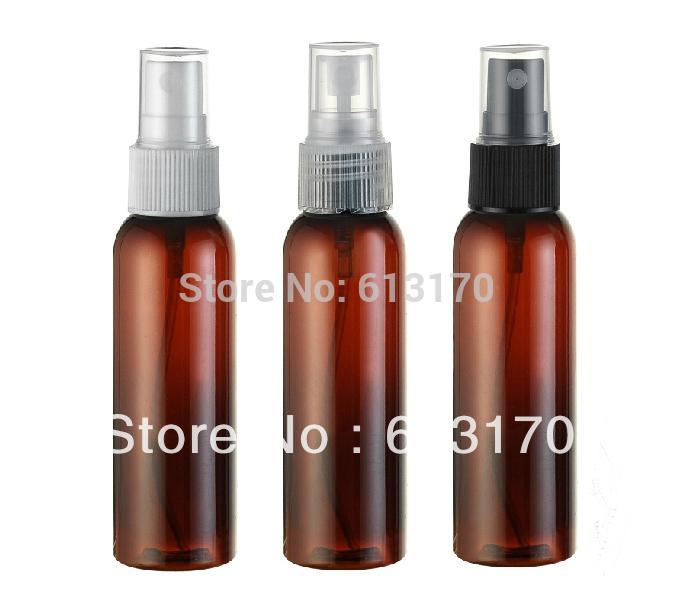 60ml marrón mascota botella aerosol 2 oz botellas del atomizador de perfume vacía del recorrido del sistema rociador de la niebla bomba embalaje cosmético para las mujeres