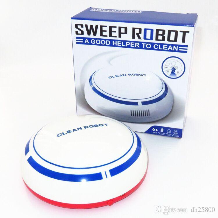 Inicio de carga de dibujos animados de inducción automática perezosa robot aspirador automático de barrido limpio lleno de mini aspirador inteligente