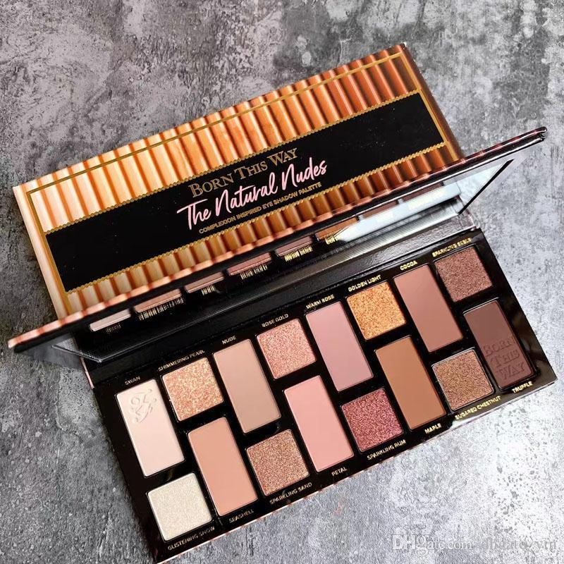Newest 16colors born this way eye shadow the natural nude Luminous eye shadow palette Shimmer Matte