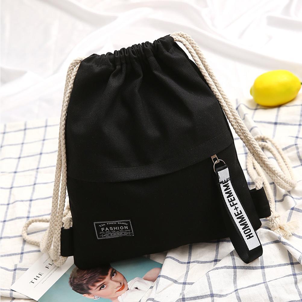 موضة جديدة قماش الرباط حقيبة الظهر كيس كيس كيس المحمولة عارضة سلسلة sackpack الظهر