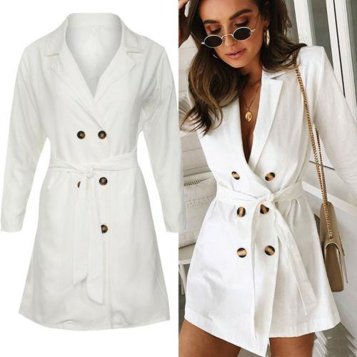 online store e14a8 80478 Acquista Cappotto Trench Corto Doppio Petto Da Donna A $40.19 Dal Acore |  DHgate.Com