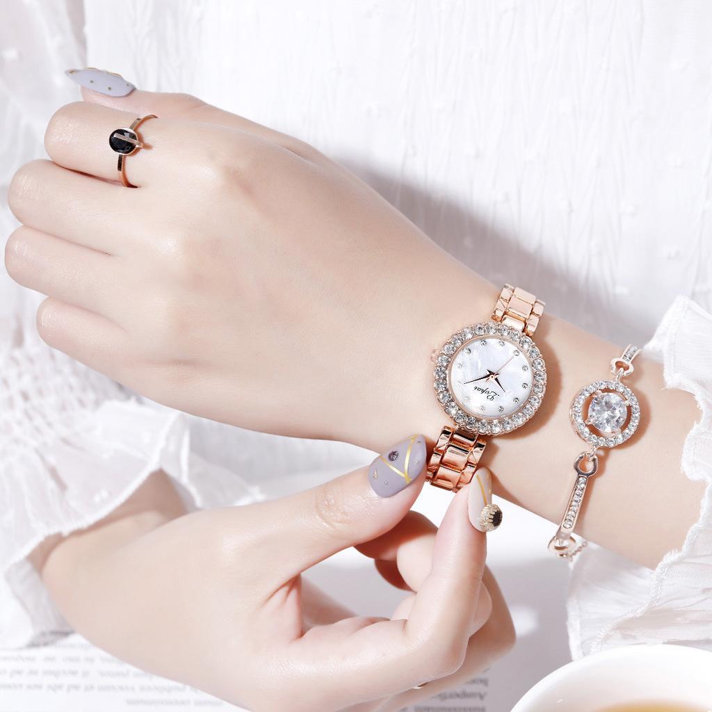 Relogio Feminino Reloj Mujer Rahat Kuvars Paslanmaz Çelik Bayanlar Watch Band Askı Kadınlar için Analog Bilek Saatler