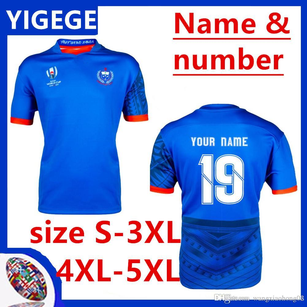 Samoa Rugby RWC 2019 Home Pro Jersey Japan Rugby Jerseys 2019 World Cup national team rugby jerseys size S-5XL(can print)