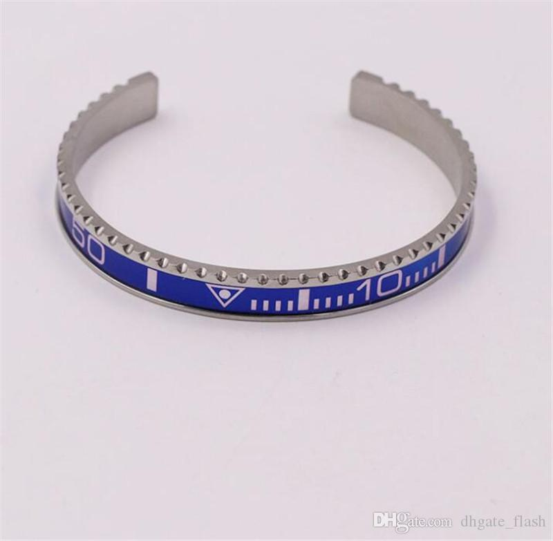 Italian Style 316L Stainless Steel cuff bracelet Speedometer Official Bracelet bangles Men silver plated Fashion Jewelry