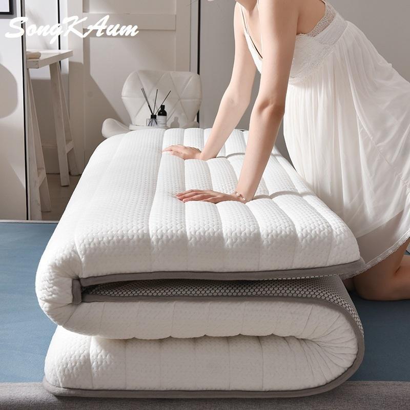 SongKAum nuevo de la manera plegable colchón de látex colchón para Queen / King / Twin / Full Size Breathe espuma tatami colchón CJ191216
