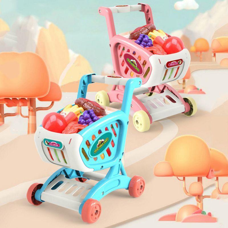 Mini Kids Warenkorb Set Spielzeug Cuttable Frucht-Gemüse-Geschenk für Junge Mädchen P31B