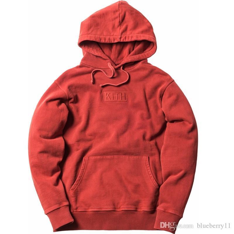 Kith Hommes Femmes Sweats à capuche en vrac Casual Streetwear Rouge Noir Hip Hop Casual Sweat à capuche S-XL 2020