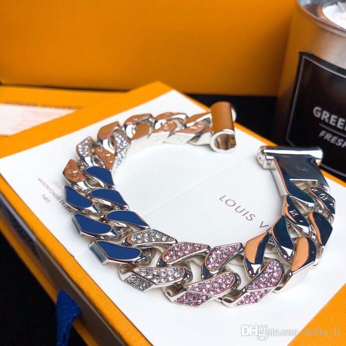 2020 Jewelry Collection Designer Bracelet Chain Diamond Enamel Bracelet Mens Luxury Fashion Accessories Engraved Patterns And Shiny Metal From Liuju1 93 39 Dhgate Com