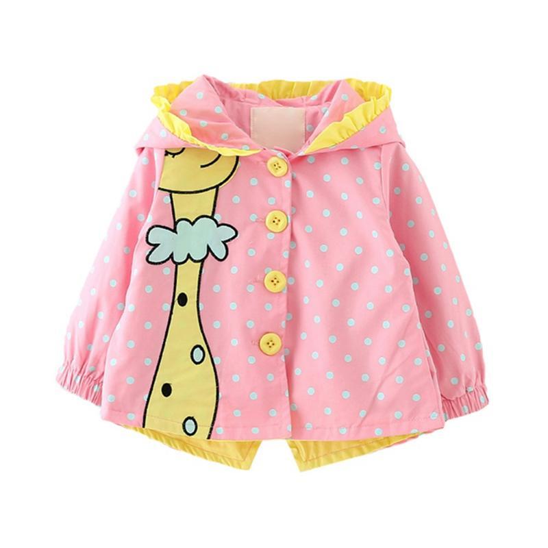 Baby Girls Cute Jacket осень ветровка верхняя одежда пальто для девочки тренчкот Детская одежда прекрасный повседневный 3-36М